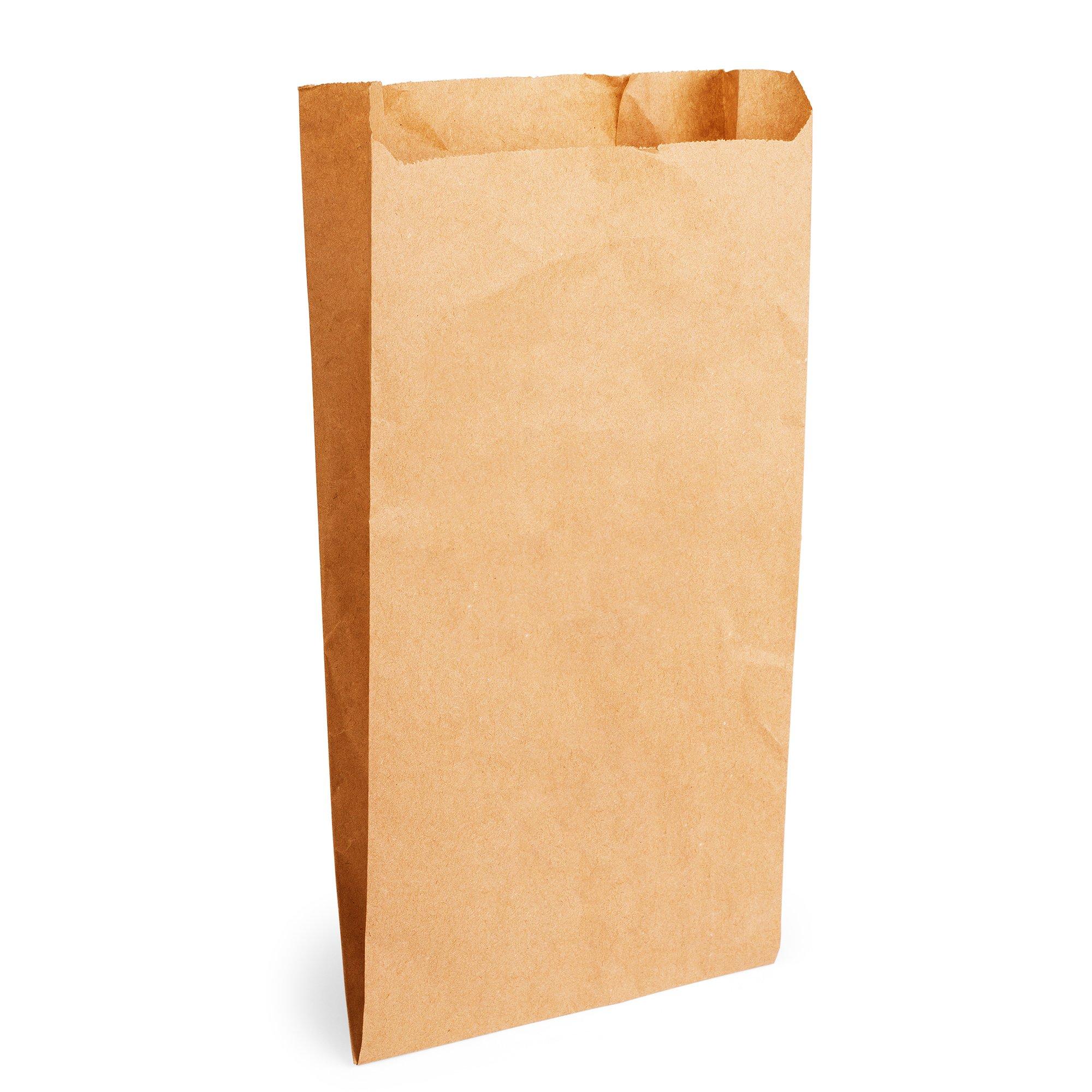 Ruskea elintarvikekelpoinen paperipussi