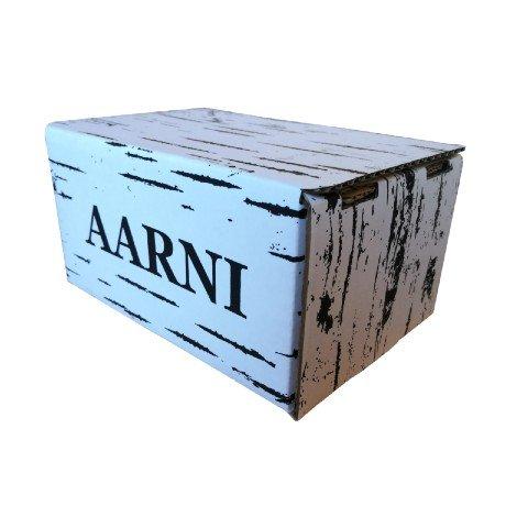 Aarni lähetyslaatikko omilla mitoilla ja logolla