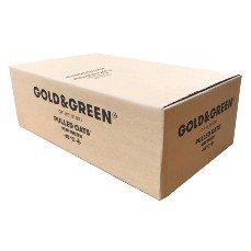 Gold & Green läppälaatikko läpällinen pahvilaatikko