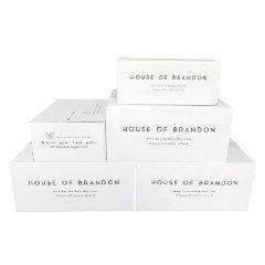 House of Brandon pakkaus- ja lähetyslaatikot