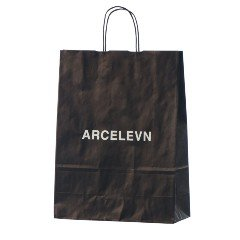 Musta painatettu paperikassi Arcelevn