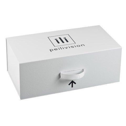 Peilivision tuotepakkaus ja lähetyslaatikko